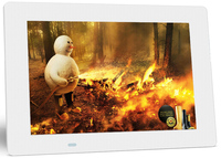 White 10.1 inch advertising player