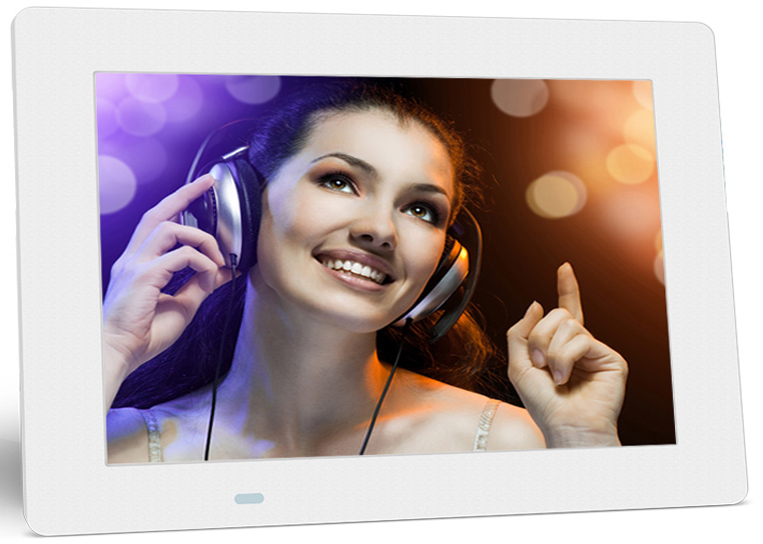 White 7 inch advertising player